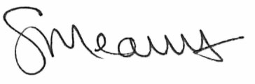 President Mearns Signature